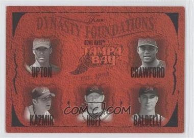 2005 Flair [???] #27DF - B.J. Upton, Carl Crawford, Scott Kazmir, Aubrey Huff, Rocco Baldelli /500