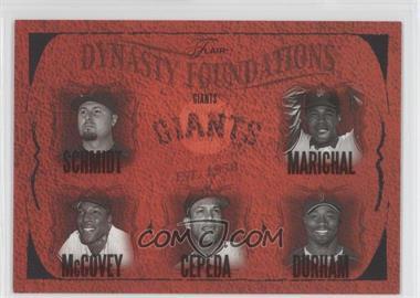 2005 Flair Dynasty Foundations #24DF - Jason Schmidt, Juan Marichal, Ray Durham, Willie McCovey /500