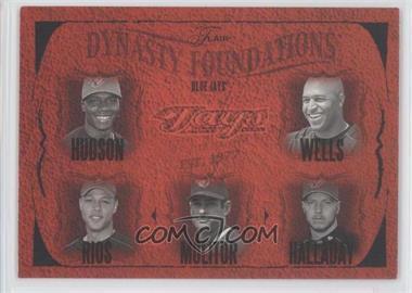 2005 Flair Dynasty Foundations #29DF - Orlando Hudson, Vernon Wells, Alex Rios, Paul Molitor, Roy Halladay /500