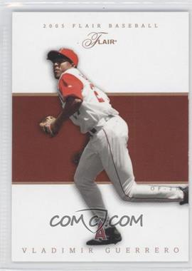 2005 Flair Row 1 #6 - Vladimir Guerrero /100