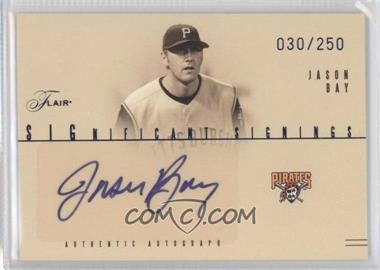 2005 Flair Significant Signings Blue #SS-JB - Jason Bay /250