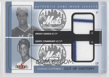 2005 Fleer Classic Clippings - Cuts of History Dual - Blue Materials [Memorabilia] #CH-DG/DS - Dwight Gooden, Darryl Strawberry