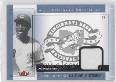 2005 Fleer Classic Clippings Cuts of History Single Blue Materials [Memorabilia] #CH-JM - Joe Morgan