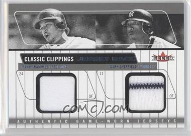 2005 Fleer Classic Clippings Jersey Rack Double Blue #JR-MR/GS - Manny Ramirez, Gary Sheffield