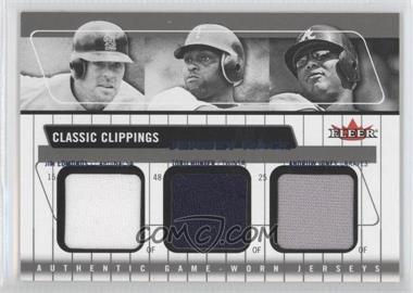 2005 Fleer Classic Clippings Jersey Rack Triple Blue #JR-JE/TH/AJ - Jim Edmonds, Torii Hunter, Andruw Jones