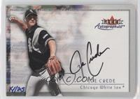 Joe Crede (2000 Fleer Autographics) /25
