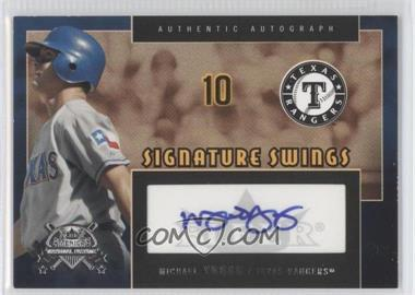 2005 Fleer National Pastime Signature Swings Gold #SS-MY - Michael Young