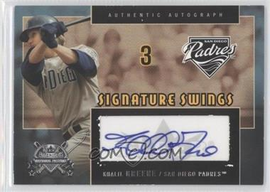 2005 Fleer National Pastime Signature Swings #SS-KG - Khalil Greene