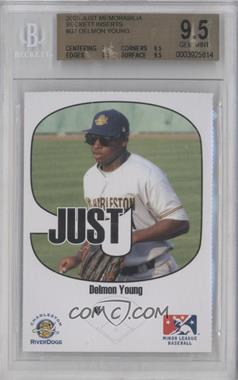2005 Just Minors - Beckett Insert Just 9 #7 - Delmon Young [BGS 9.5]