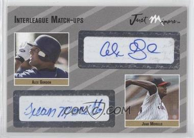 2005 Just Minors - Interleague Match-Ups Autographs - Silver #IMU.si.28 - Alex Gordon, Juan Morillo /25
