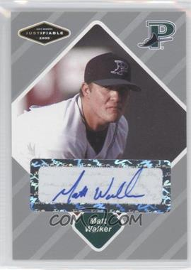 2005 Just Minors - Justifiable - Silver Autographs [Autographed] #85 - Matt Walker /100