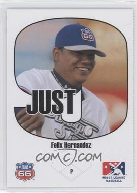 2005 Just Minors Beckett Insert Just 9 #1 - Felix Hernandez