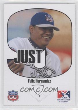 2005 Just Minors Beckett Insert Just 9 #1 - Felix Hernandez
