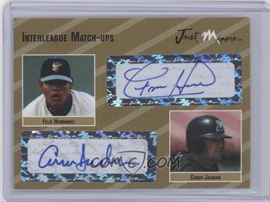 2005 Just Minors Interleague Match-Ups Autographs Gold #IMU.go.34 - Felix Hernandez, Conor Jackson /10