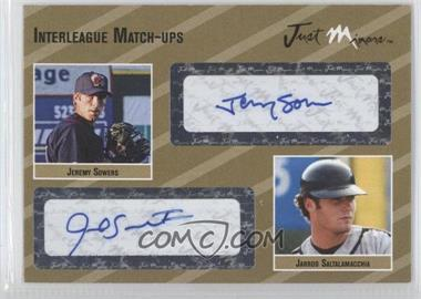 2005 Just Minors Interleague Match-Ups Autographs Gold #IMU.go.45 - Jeremy Sowers, Jarrod Saltalamacchia /10