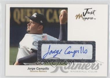 2005 Just Minors Just Autographs Autographs [Autographed] #9 - Jorge Campillo