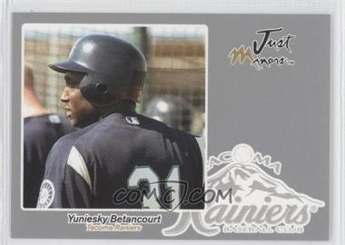 2005 Just Minors Just Autographs Silver #6 - Yuniesky Betancourt /200