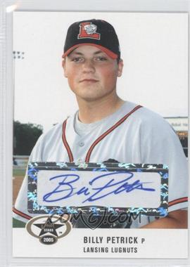 2005 Just Minors Just Stars Autographs [Autographed] #42 - Billy Petrick