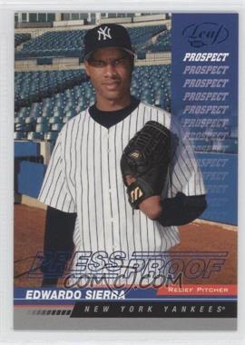 2005 Leaf - [Base] - Blue Press Proof #215 - Eduardo Sierra /75