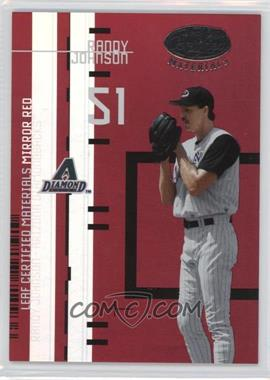 2005 Leaf - Certified Materials Previews - Mirror Red #LC-12 - Randy Johnson /200