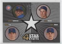 Carlos Zambrano, Greg Maddux, Mark Prior, Kerry Wood /250