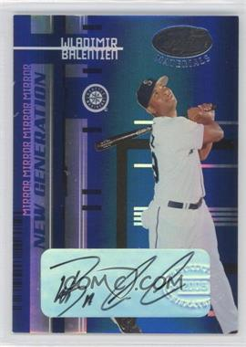2005 Leaf Certified Materials - [Base] - Mirror Blue Signatures [Autographed] #243 - Wladimir Balentien /49
