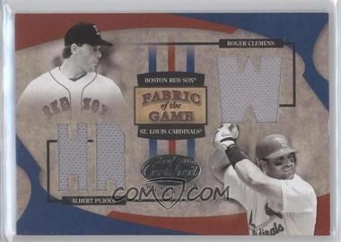 2005 Leaf Certified Materials - Fabric of the Game - Stats #FG-179 - Roger Clemens, Albert Pujols /50