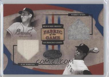 2005 Leaf Certified Materials Fabric of the Game #FG-174 - Juan Marichal, Warren Spahn /50