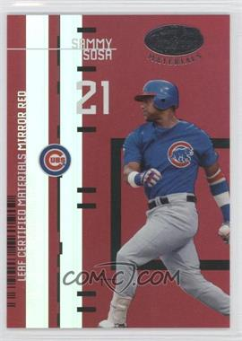 2005 Leaf Certified Materials Leaf Certified Materials Mirror Red #LC-14 - Sammy Sosa /200