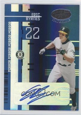 2005 Leaf Certified Materials Mirror Blue Signatures [Autographed] #62 - Eric Byrnes /25