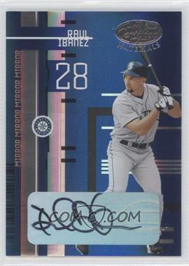 2005 Leaf Certified Materials Mirror Blue Signatures [Autographed] #80 - Raul Ibanez /25