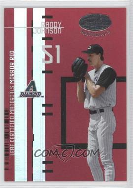 2005 Leaf Certified Materials Previews Mirror Red #LC-12 - Randy Johnson /200