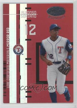 2005 Leaf Certified Materials Previews Mirror Red #LC-3 - Alfonso Soriano /200