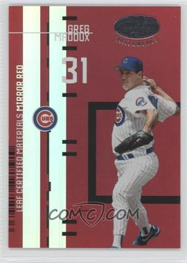 2005 Leaf Certified Materials Previews Mirror Red #LC-6 - Greg Maddux /200