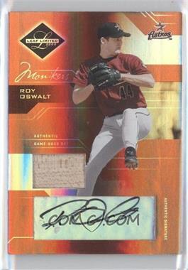 2005 Leaf Limited - [Base] - Monikers Bronze Materials Bats [Autographed] [Memorabilia] #45 - Roy Oswalt /50