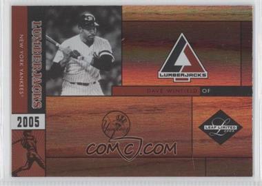 2005 Leaf Limited - Lumberjacks - Holofoil #LJ-8 - Dave Winfield