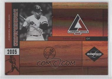 2005 Leaf Limited Lumberjacks Holofoil #LJ-8 - Dave Winfield