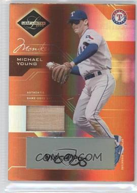 2005 Leaf Limited Monikers Bronze Materials Bats [Autographed] [Memorabilia] #38 - Michael Young /100