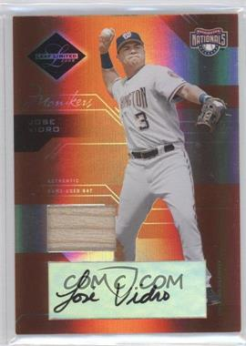 2005 Leaf Limited Monikers Bronze Materials Bats [Autographed] [Memorabilia] #82 - Jose Vidro /100