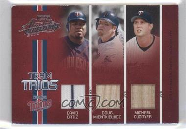 2005 Playoff Absolute Memorabilia - Team Trios - Single Materials [Memorabilia] #TT-49 - David Ortiz, Doug Mientkiewicz, Michael Cuddyer