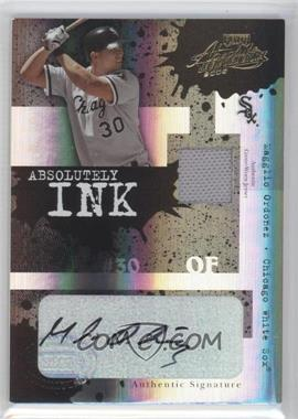 2005 Playoff Absolute Memorabilia Absolutely Ink Spectrum Materials Autograph #AI-30 - Magglio Ordonez /25