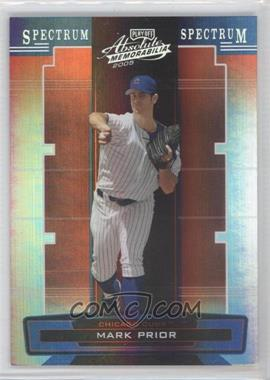 2005 Playoff Absolute Memorabilia Silver Spectrum #68 - Mark Prior /100