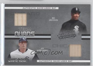 2005 Playoff Absolute Memorabilia Team Quads Materials #TQ-32 - Joe Borchard, Carlos Lee, Bo Jackson, Charles Johnson /150