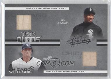 2005 Playoff Absolute Memorabilia Team Quads Materials #TQ-32 - Joe Borchard, Carlos Lee, Bo Jackson /150