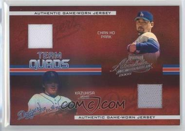 2005 Playoff Absolute Memorabilia Team Quads Spectrum #TQ-48 - Chan Ho Park, Kazuhisa Ishii, Kevin Brown, Shawn Green /100
