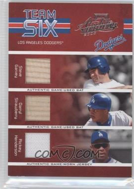 2005 Playoff Absolute Memorabilia Team Six Materials [Memorabilia] #TS-40 - Paul Lo Duca, Steve Garvey, Rickey Henderson, Kazuhisa Ishii, Kevin Brown, Darryl Strawberry /150
