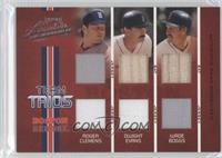 Dwight Evans, Roger Clemens, Wade Boggs /100