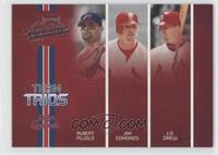 Albert Pujols, Jim Edmonds, J.D. Drew /200
