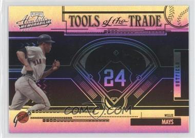 2005 Playoff Absolute Memorabilia Tools of the Trade Reverse Black Spectrum #TT-197 - Willie Mays /5