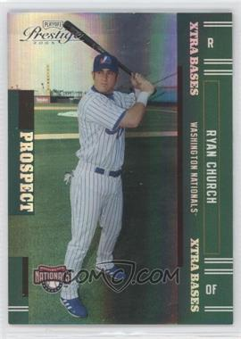 2005 Playoff Prestige - [Base] - Xtra Bases Green #167 - Ryan Church /50